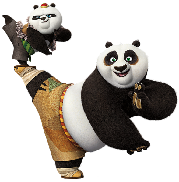 clip art black and white 3 clipart animated number. Kung fu panda png