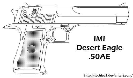 svg transparent 3 clipart desert eagle.  collection of drawing