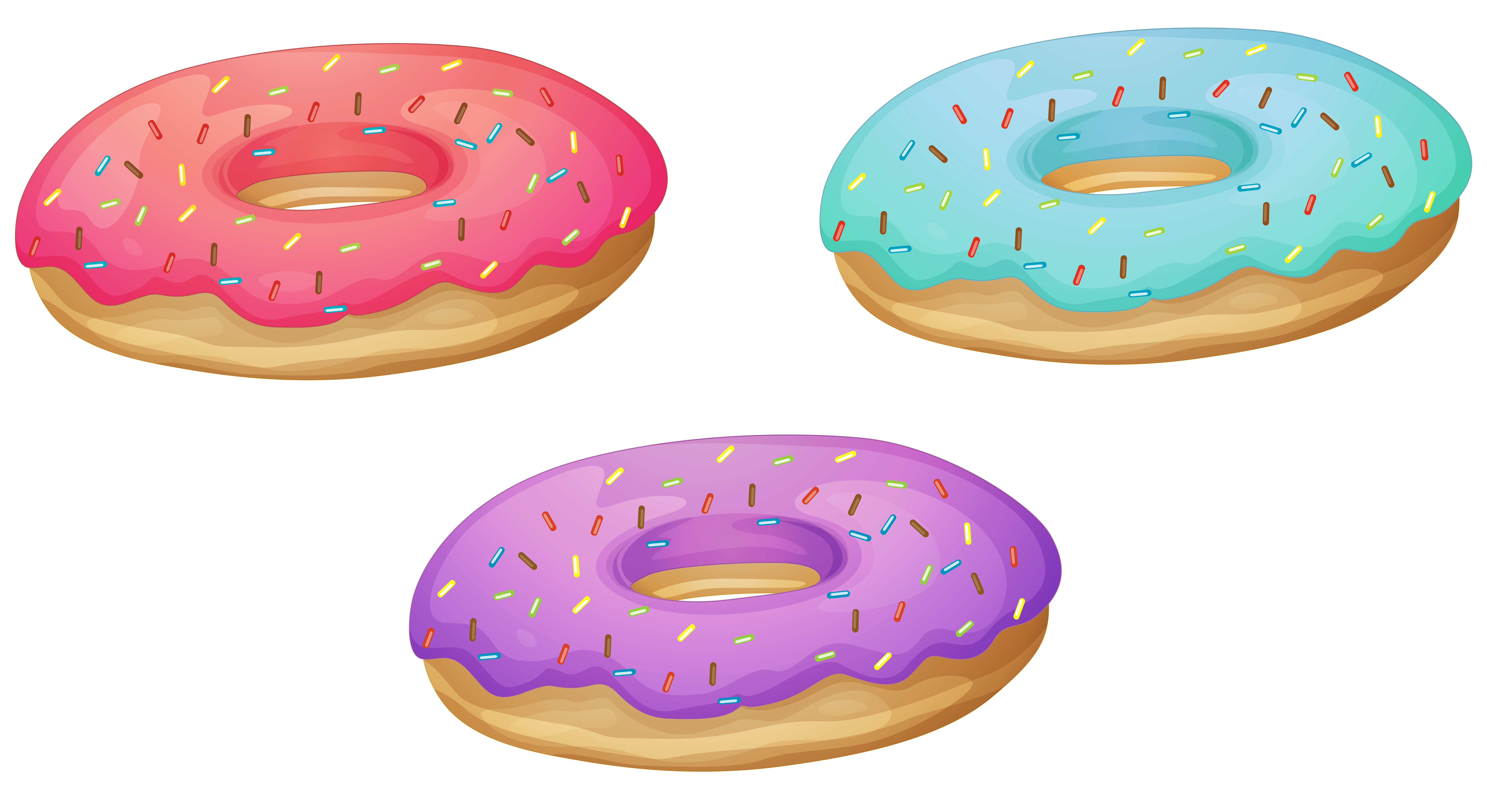 picture transparent stock  collection of donuts. 3 clipart donut