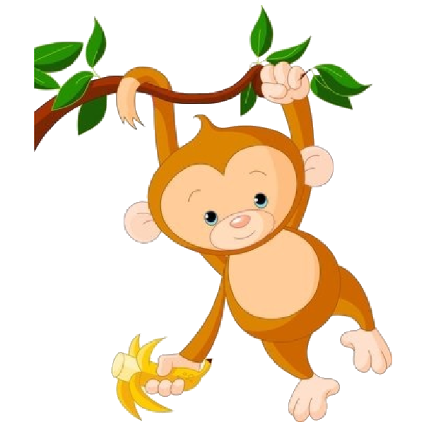 graphic library library 3 clipart little monkey. Cute funny cartoon baby.