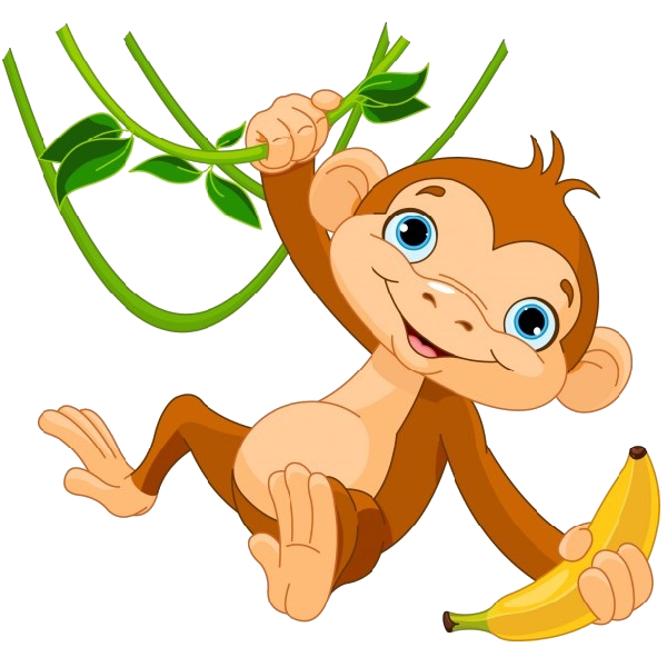 graphic library library Cute funny cartoon baby. 3 clipart little monkey.