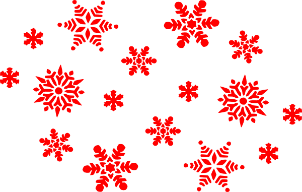 picture transparent red snowflake clipart snowflake clipart transparent background