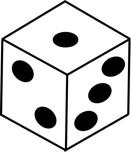 image stock dice clipart black and white #58651854