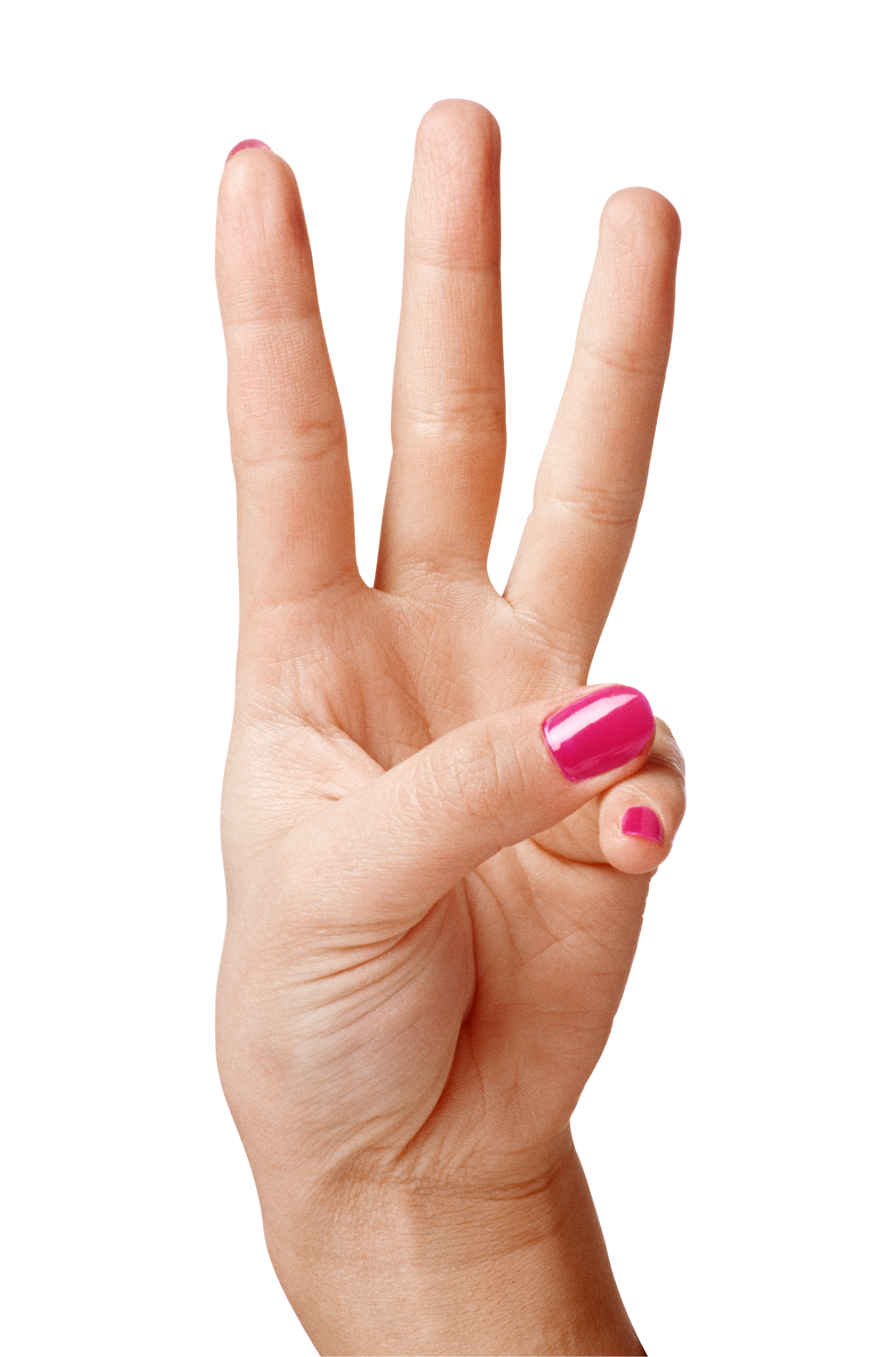 graphic black and white download Finger transparent three. Hand showing fingers png