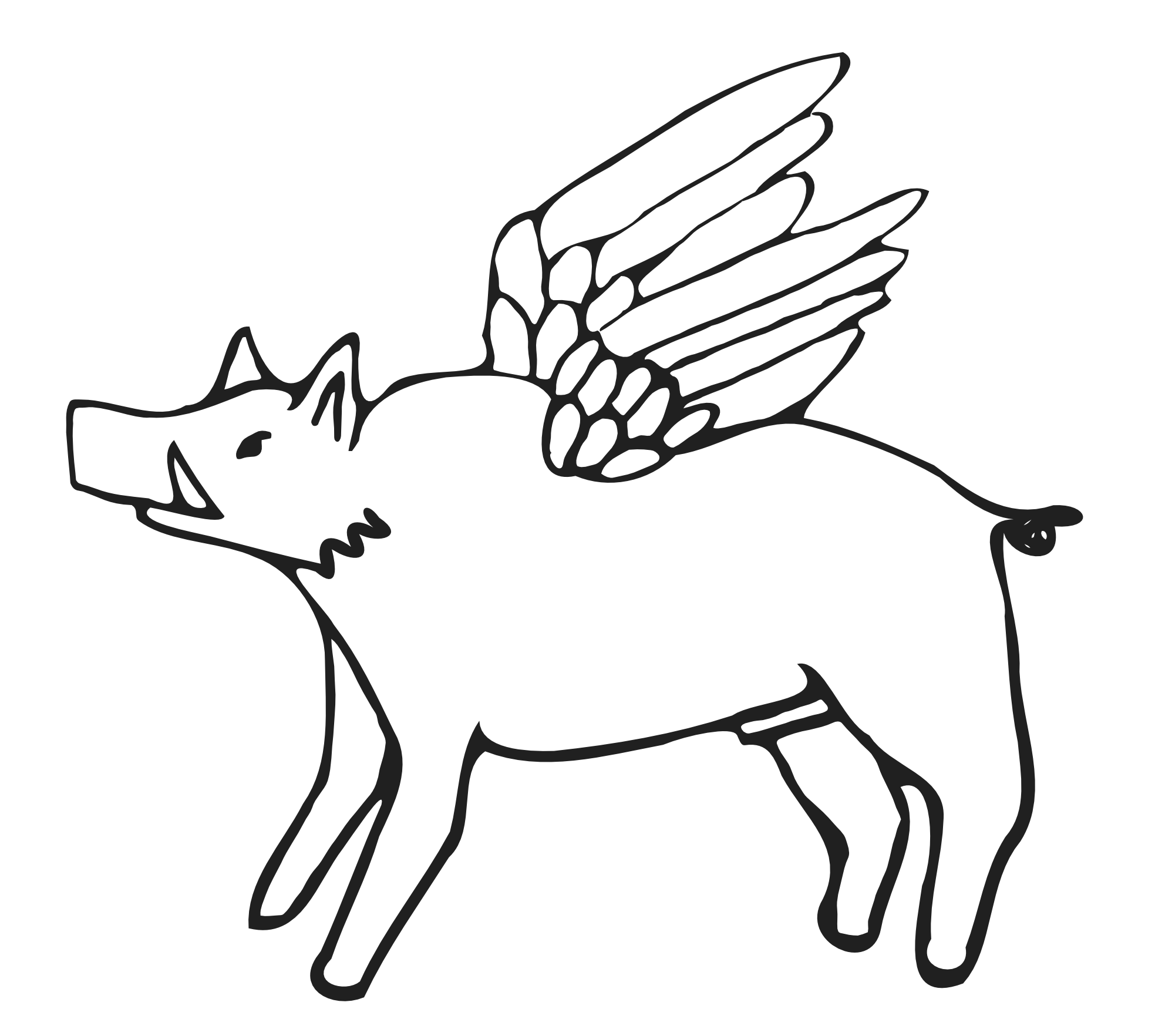 picture royalty free stock Flying pigs at getdrawings. Bronco drawing color