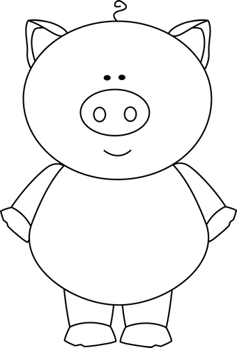 clip library stock Blanket clipart black and white. Cute pig clip art