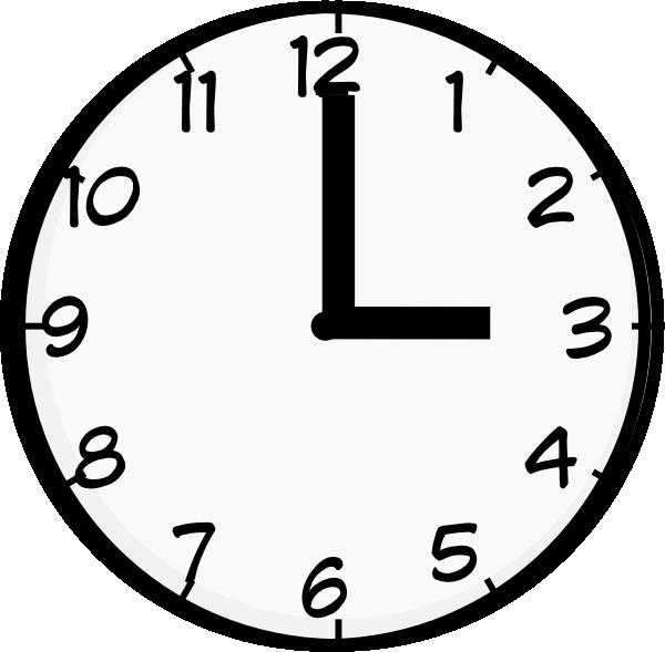picture 3 o'clock clipart #55008727