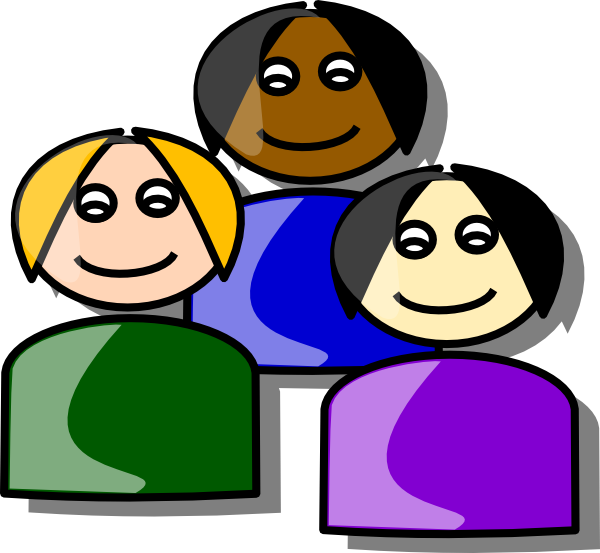 clipart free Cartoon clip art at. Group of girls clipart.