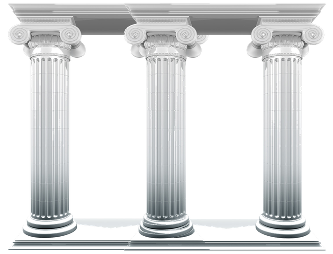 picture black and white library Pillars vector greek stone. Three the heroes leadership