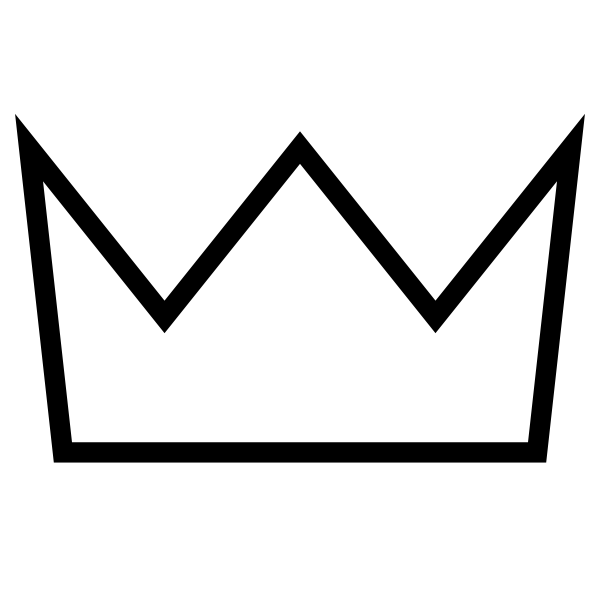 jpg transparent library Crown Outline White Clip Art at Clker