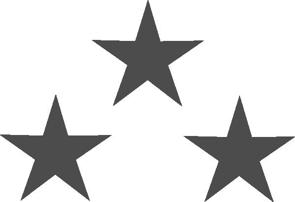 png transparent stock Three Gray Stars Clip Art at Clker