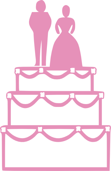 image library download Wedding Cake Pink Clip Art at Clker
