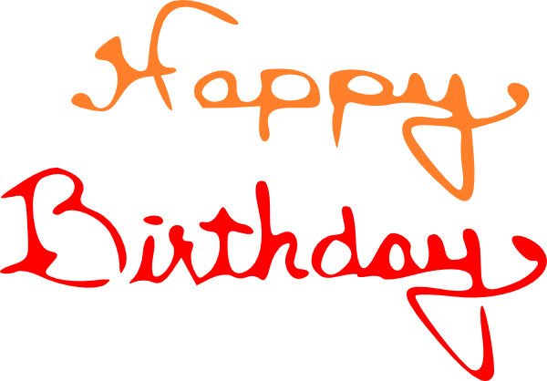 image library library Birthday Words png