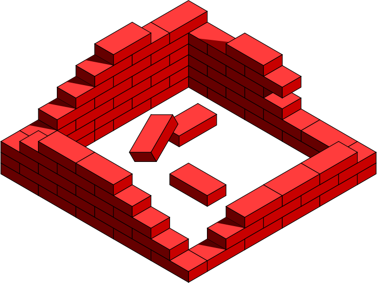 vector royalty free stock 3d brick wall clipart. Free clip art bay