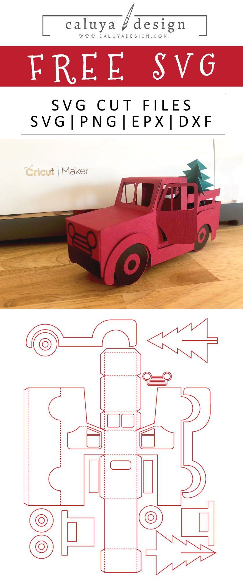 image transparent Free d christmas truck. 3d svg.