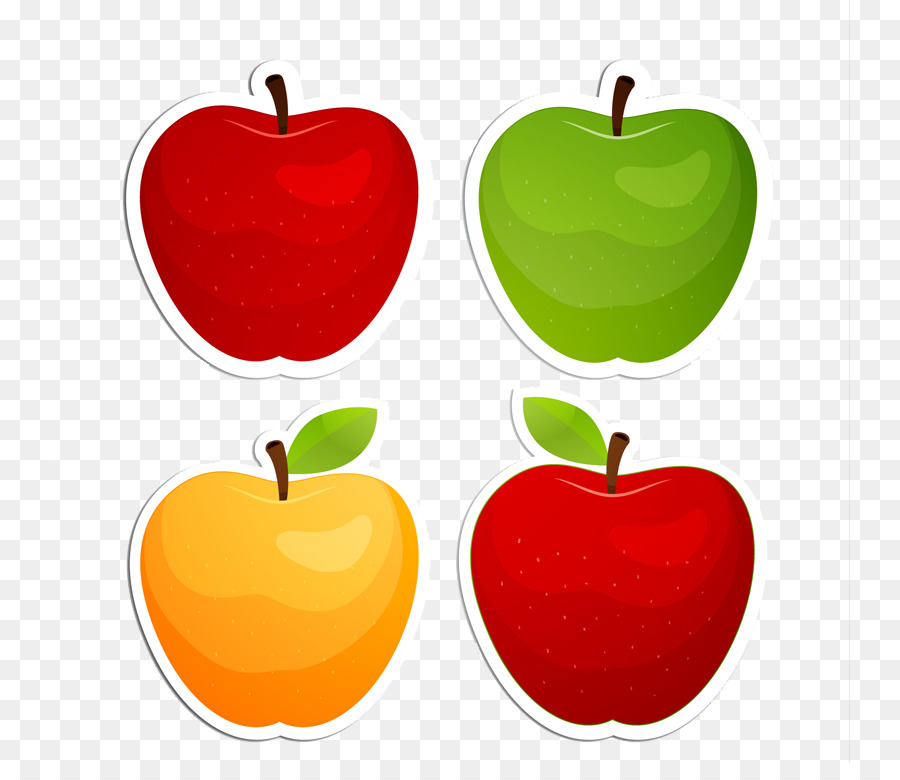graphic transparent Poster heart . 4 apples clipart
