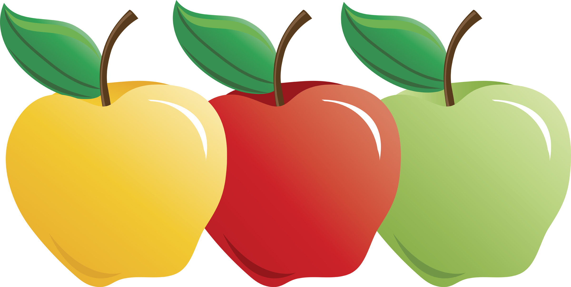 vector black and white stock 4 apples clipart. Apple clip art free