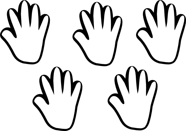 banner royalty free stock Child handprint clip art. Hand clipart black and white