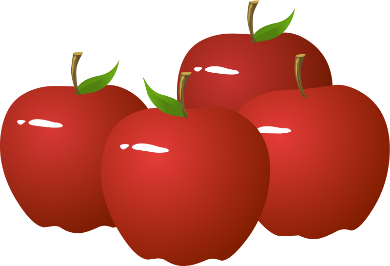 free . Clipart apples
