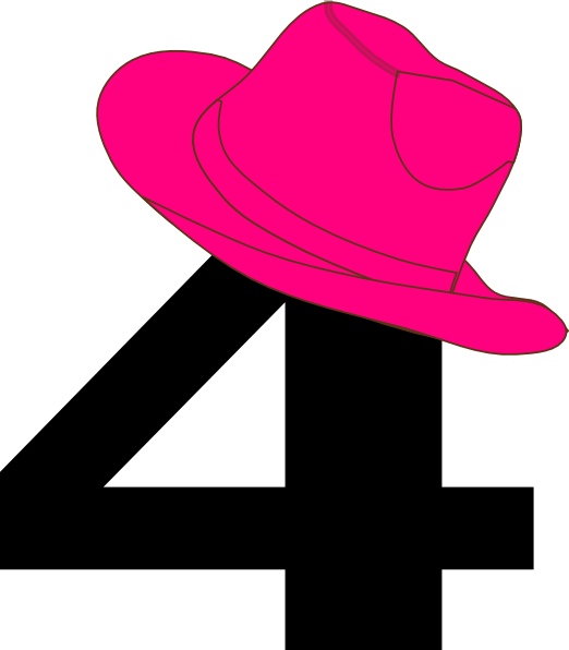 image freeuse stock  cowgirl hat clip. 4 clipart pink