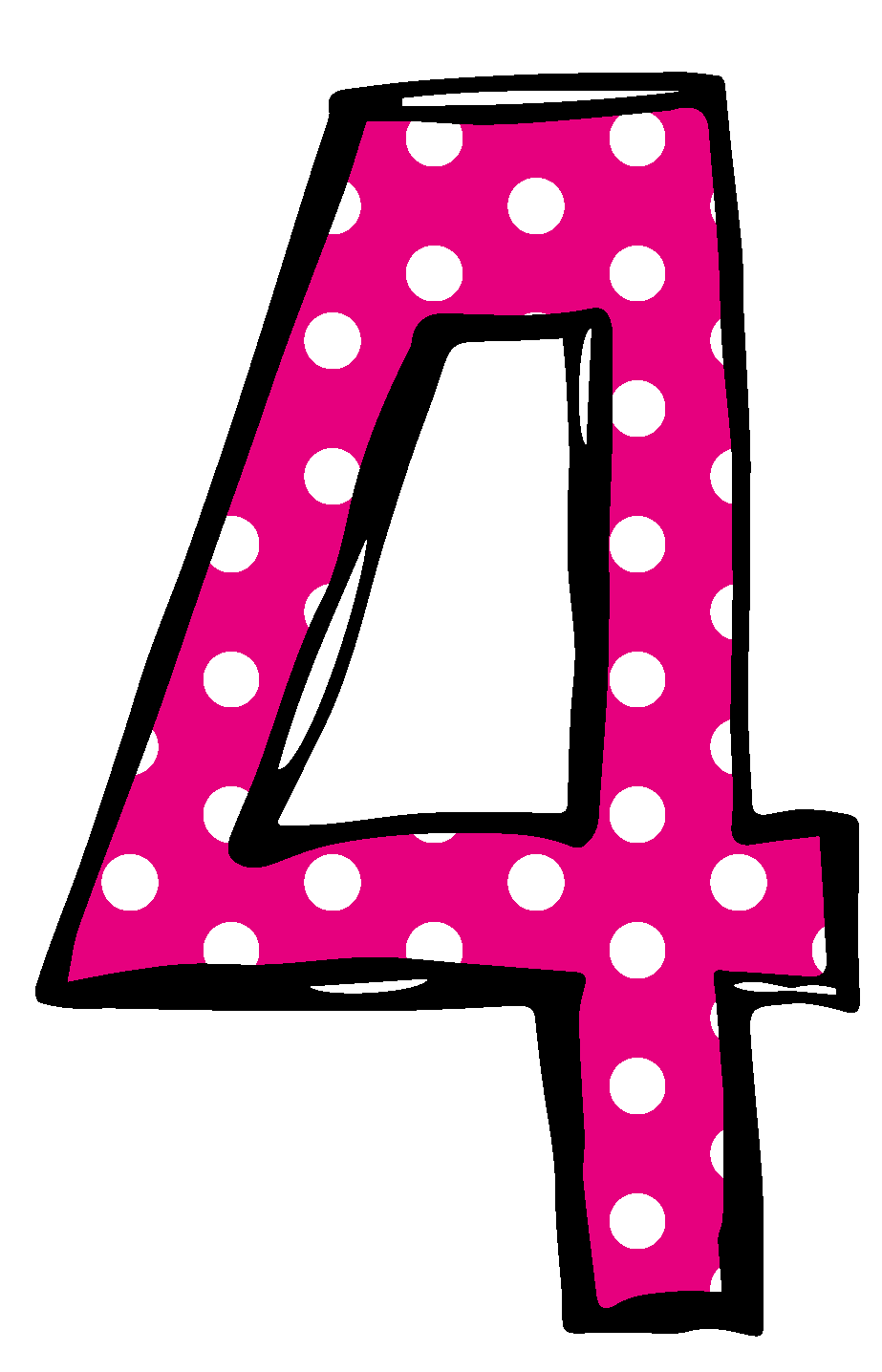 picture stock  collection of number. 4 clipart pink