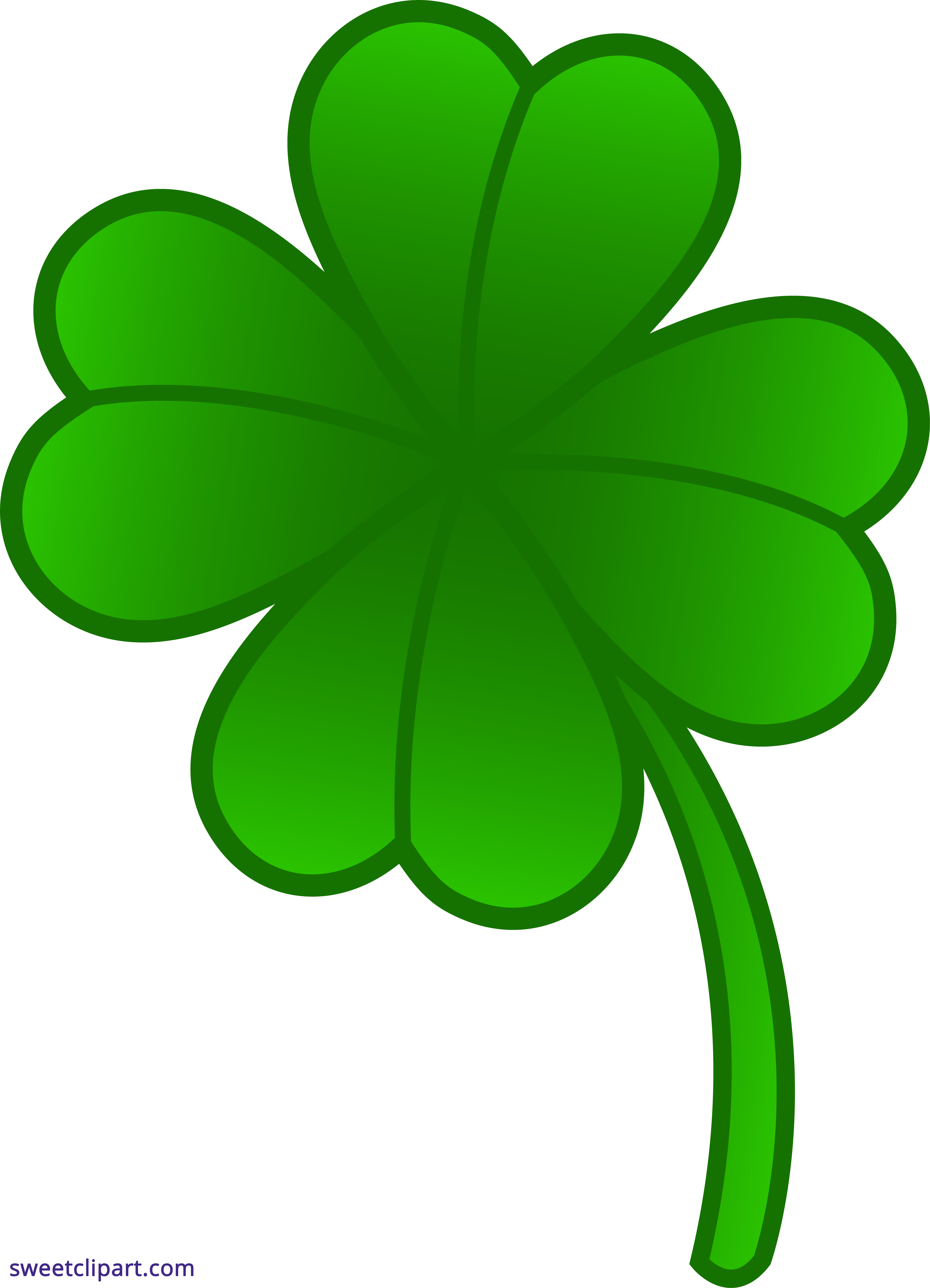 picture black and white download Four leaf sweet clip. Clover clipart cute.