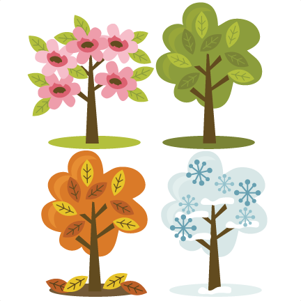 clip free library Four Season Trees SVG files for scrapbooking fall tree svg spring
