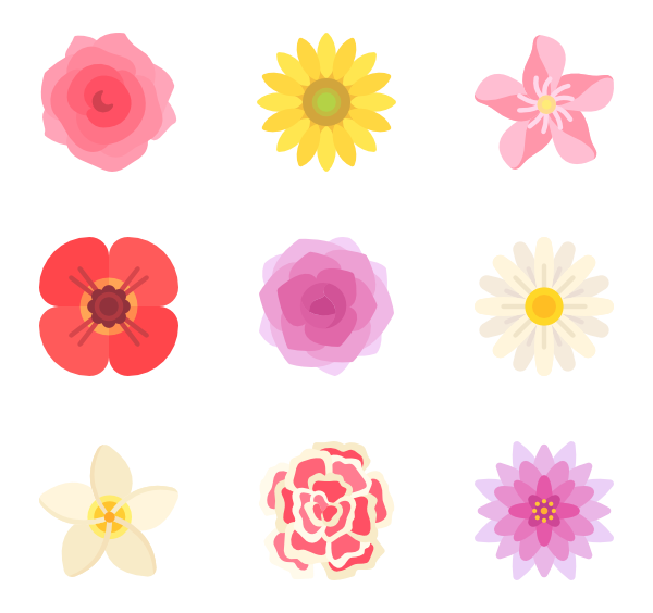 png transparent download  flower petals icon. Vector color floral