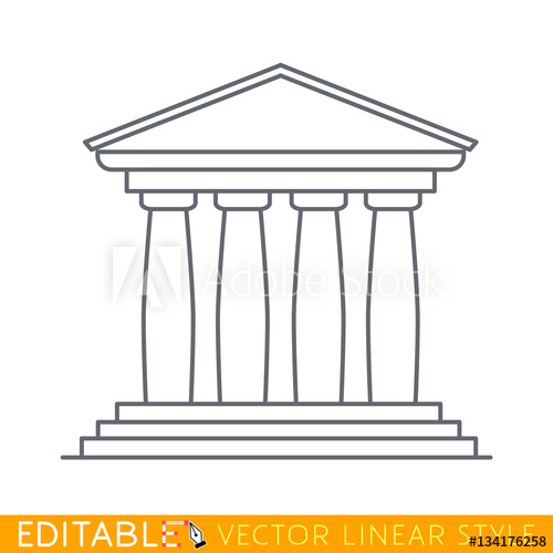 picture black and white stock Pillars vector four pillar. Portico an ancient temple