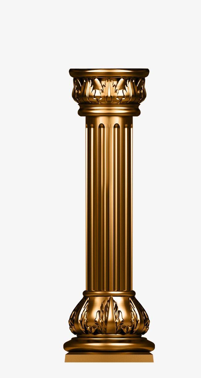 clipart library library Pillar column cylinder png. Pillars vector bronze
