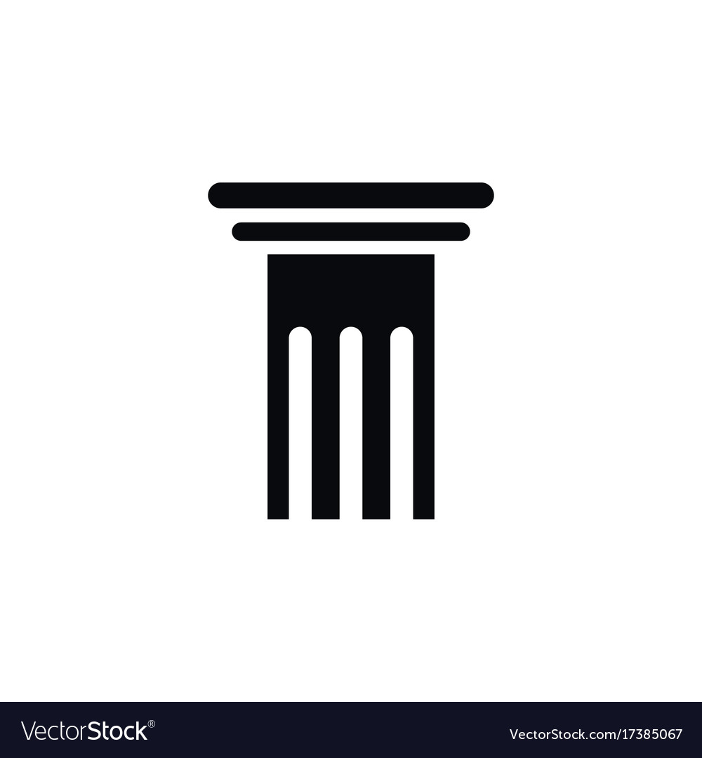 vector freeuse download Pillar icon free icons. Pillars vector black and white