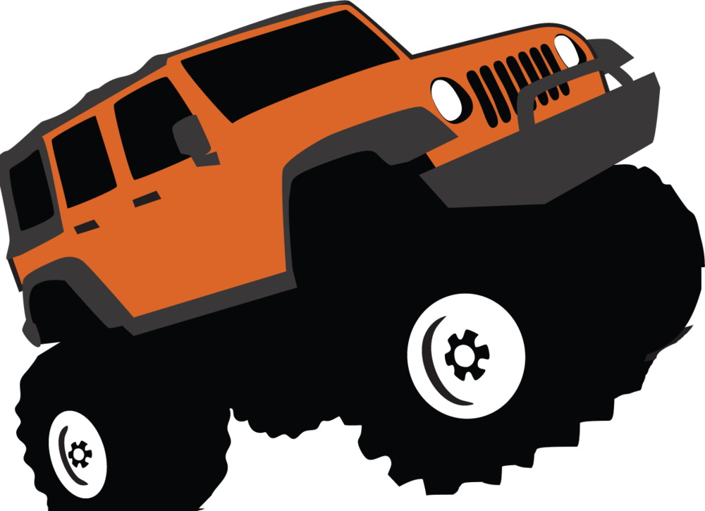 library 4 wheel drive clipart. Car jeep sport utility.