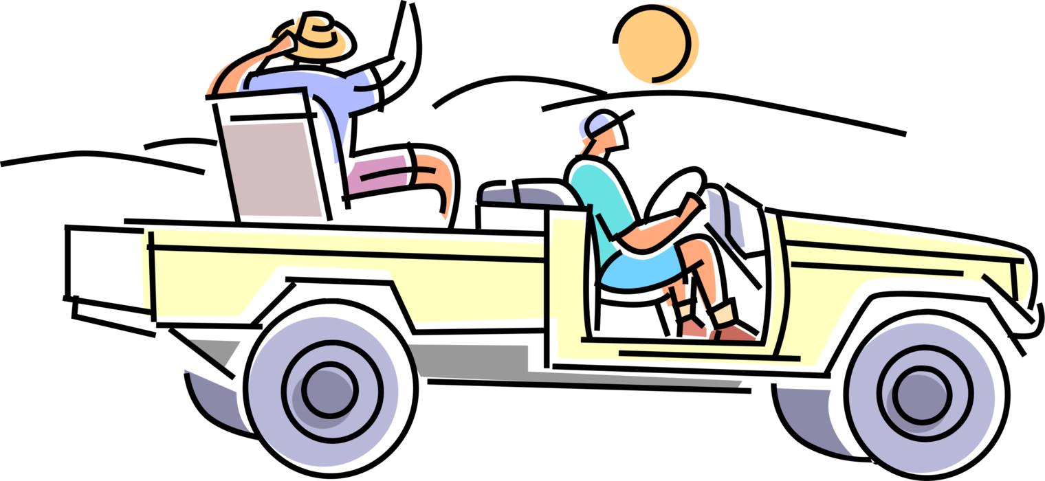 clipart free Tourist in africa takes. 4 wheel drive clipart.
