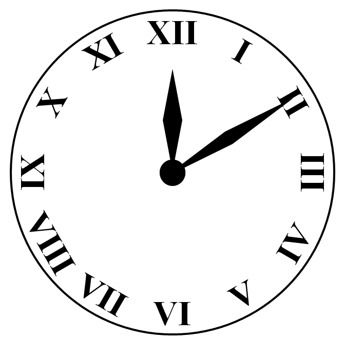 picture black and white download Drawing in powerpoint icons. Clock svg roman numeral