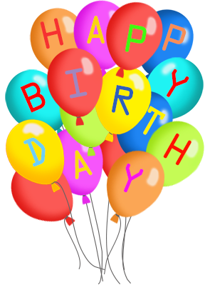 clipart transparent Happy birthday balloons clipart. Greeting with pinterest