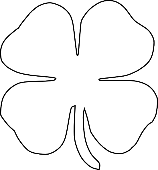 jpg black and white 4 h clover clipart #56517696