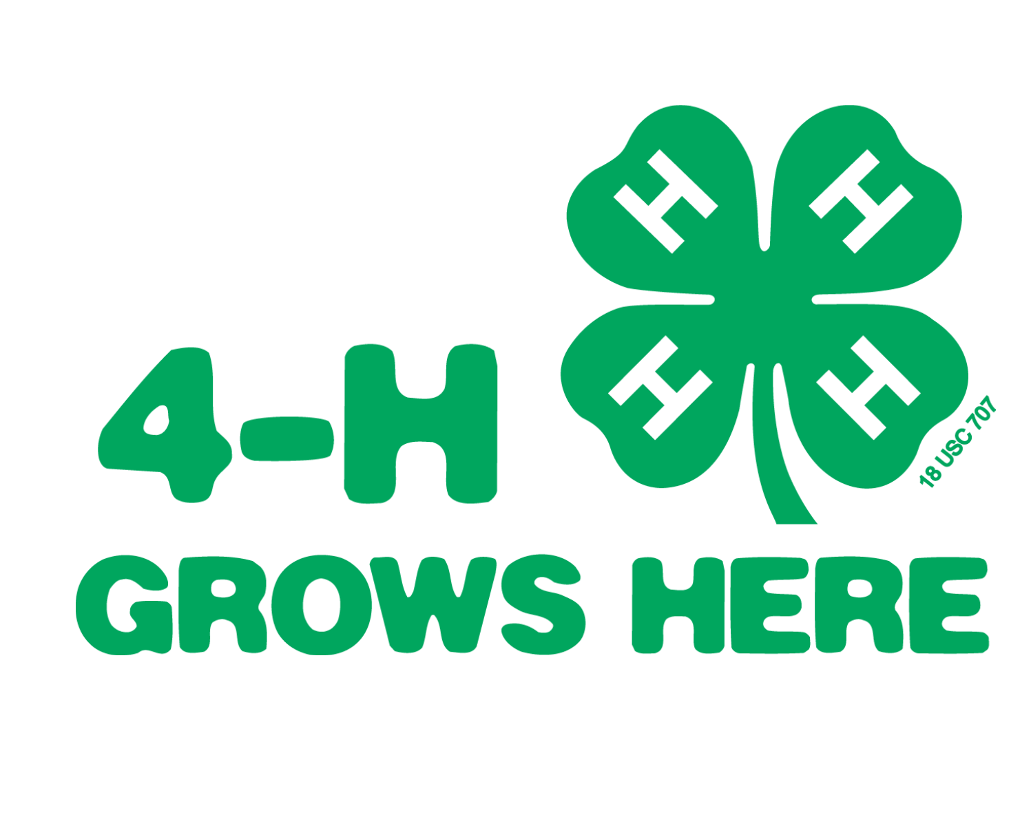 vector black and white 4-h clipart grows here #85911408