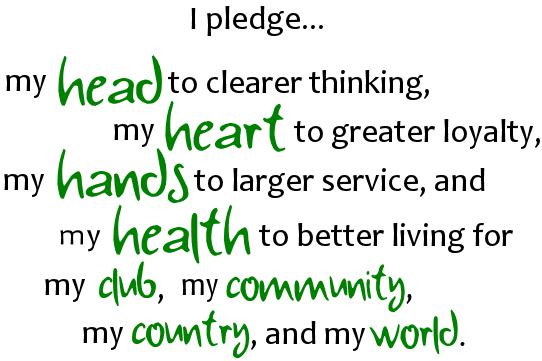 svg transparent stock 4-h clipart pledge #85910942