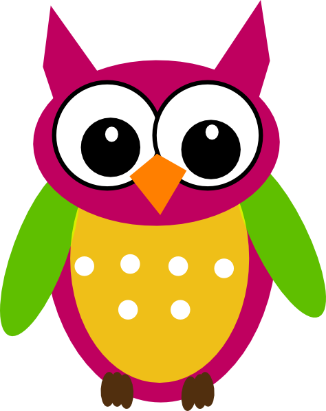 clip library Purple green clip art. Colorful owl clipart