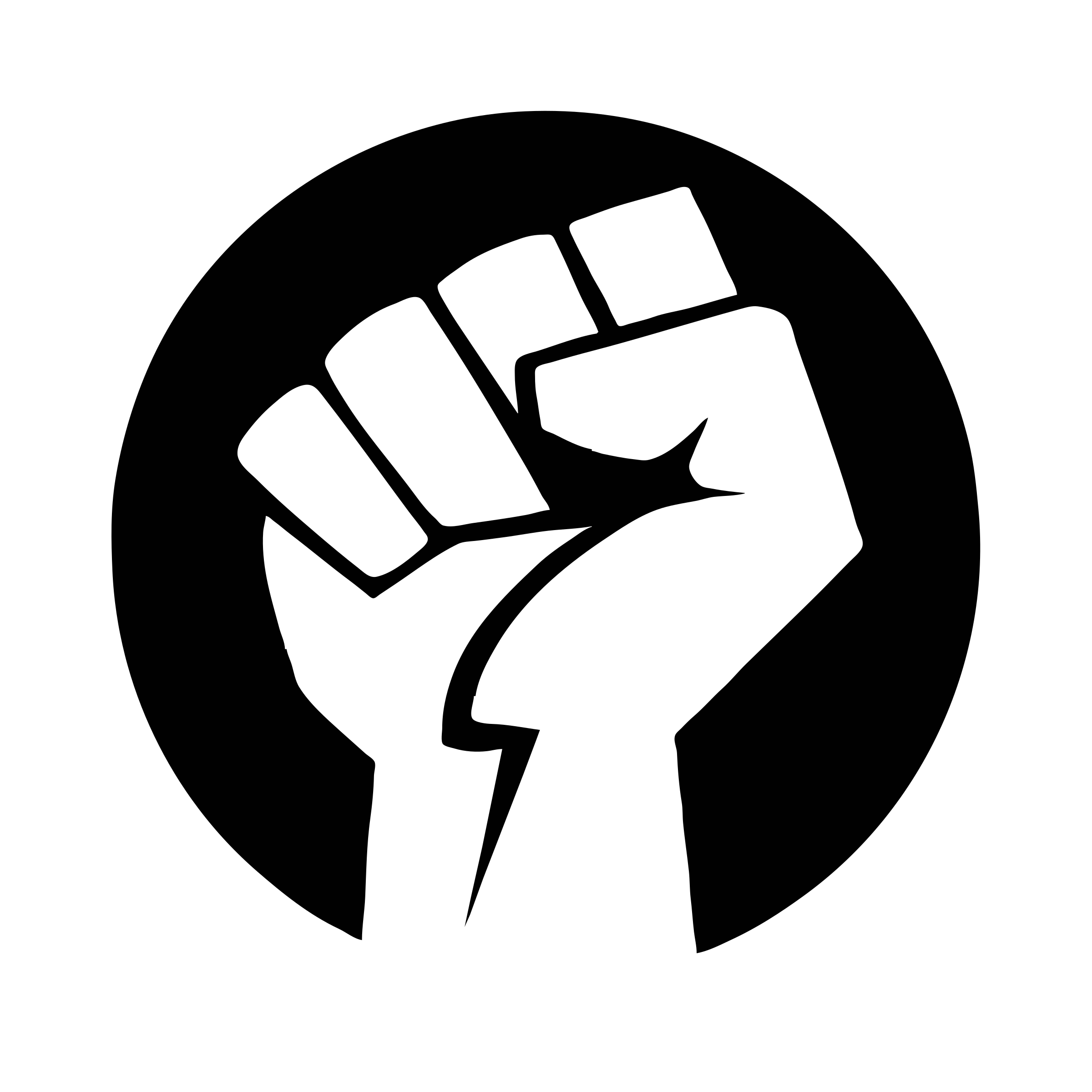 vector transparent download Power Fist BW by antti