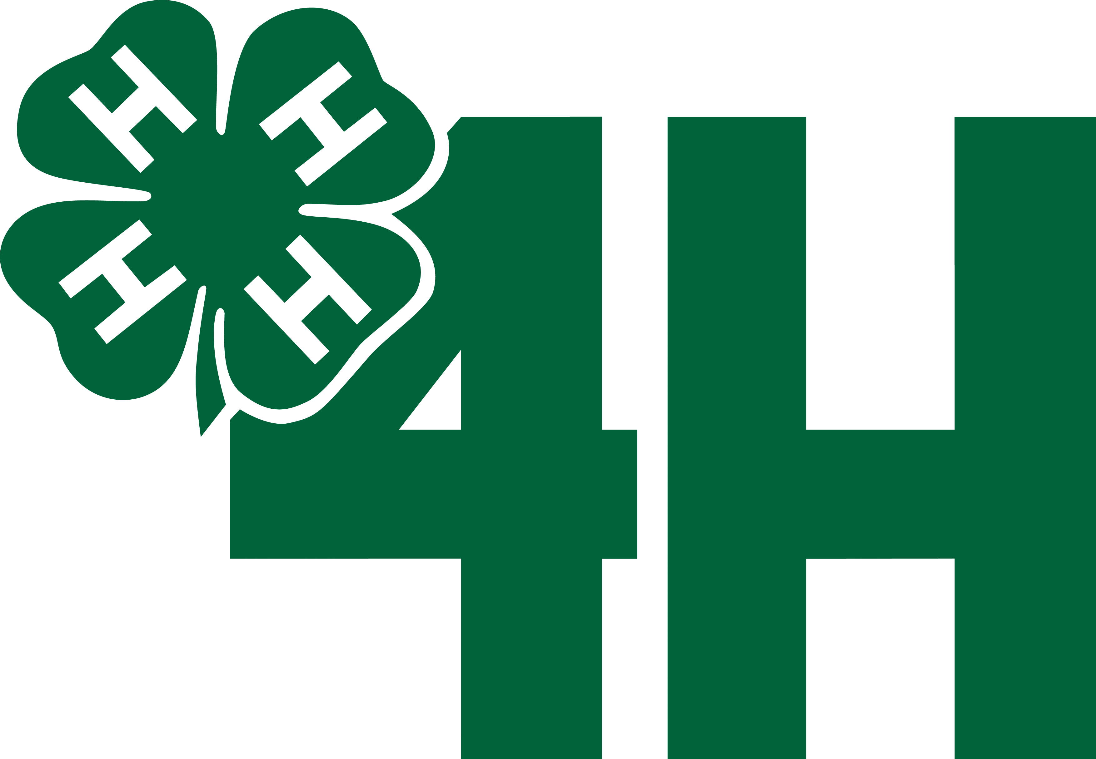 clipart black and white library  h organization agriculture. 4h clover clipart