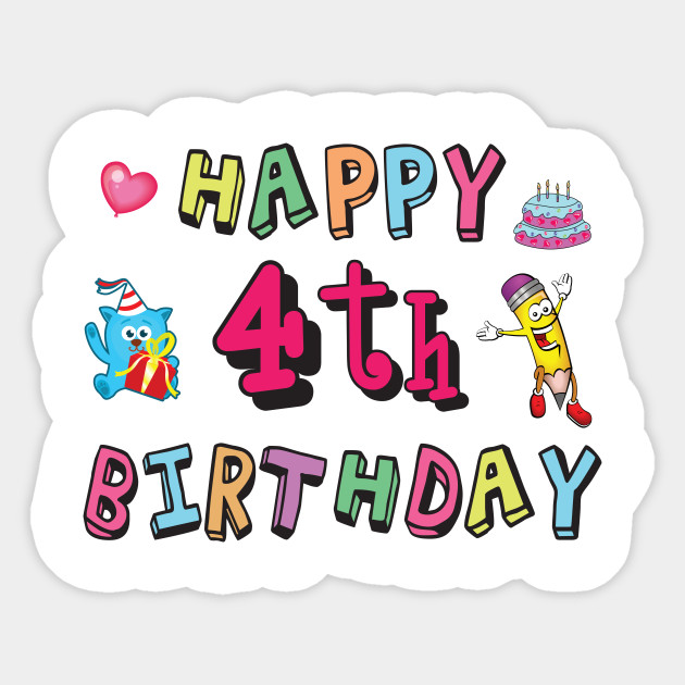 jpg stock Happy th birthday old. 4th clipart 4 year.