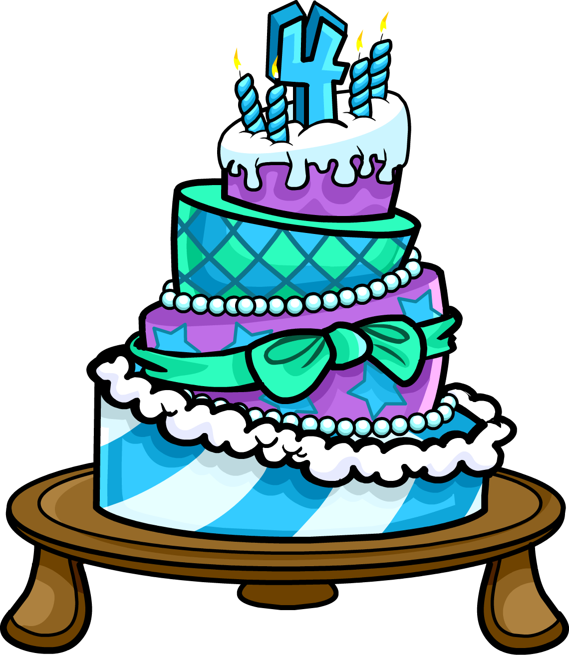 picture freeuse library Image th party cake. 4th clipart 4th anniversary