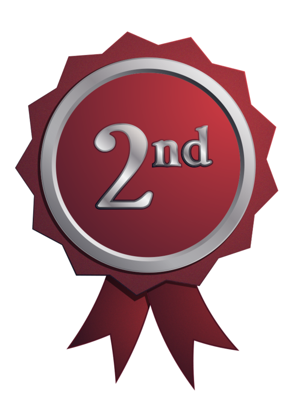 graphic free download Free png badge nd. 4th clipart 4th place ribbon