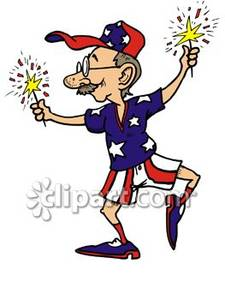 clipart stock 4th clipart cartoon. Of a man celebrating