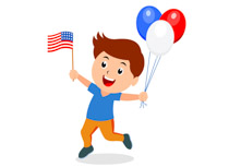 image library library Fourth of july clip. 4th clipart kid