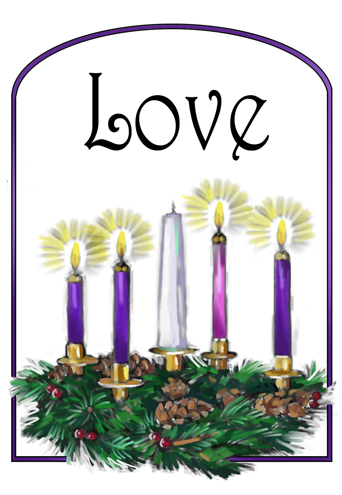 clipart free library 4th clipart sunday advent. Download for free png