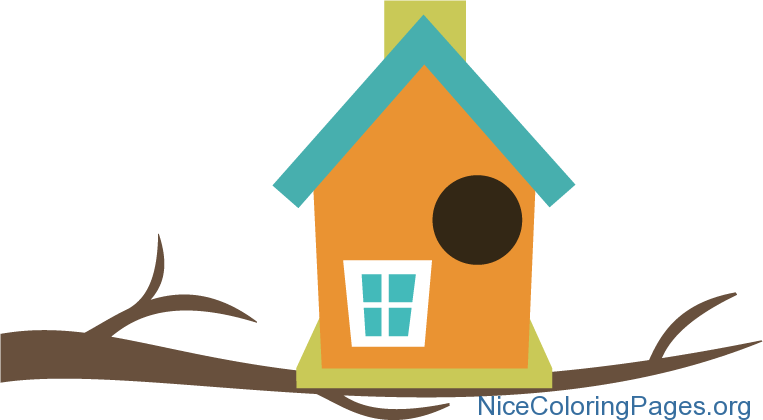 jpg black and white stock Smartness design coloring pages. 5 clipart birdhouse