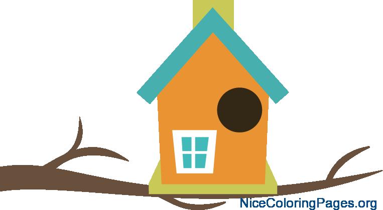 clip art transparent download Smartness Design Birdhouse Clipart Coloring Pages