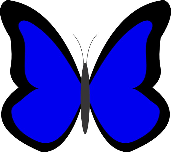 svg stock Blue Butterfly Clipart